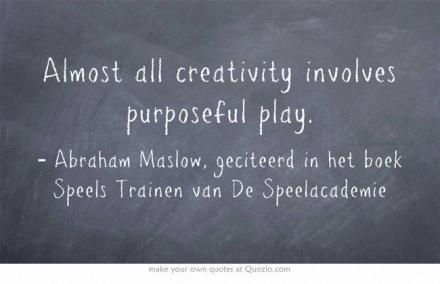 Wijsheid-Woensdag: Zonder Spel Geen Creativiteit