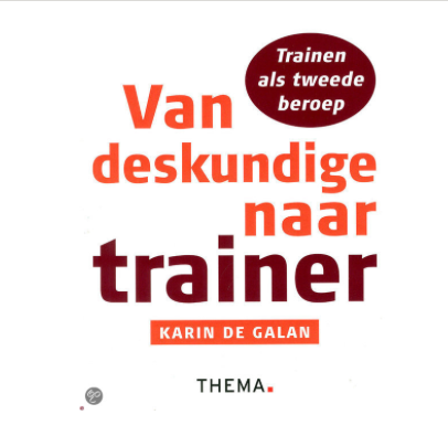Boekentip voor trainers/workshopleiders: Van deskundige naar trainer!