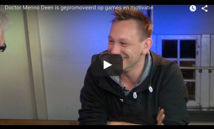 Video-Vrijdag: Doctor Menno Deen is gepromoveerd op games en motivatie