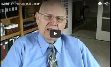 Video-Vrijdag: Eén van mijn guru's op het gebied van leren: Merrill on Instructional Design